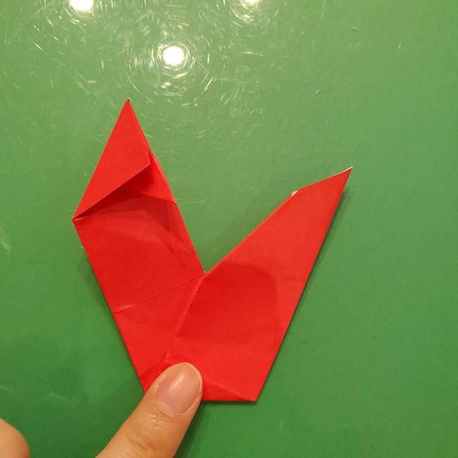 折り紙リスの折り図★立体で難しい折り方作り方①前半(33)