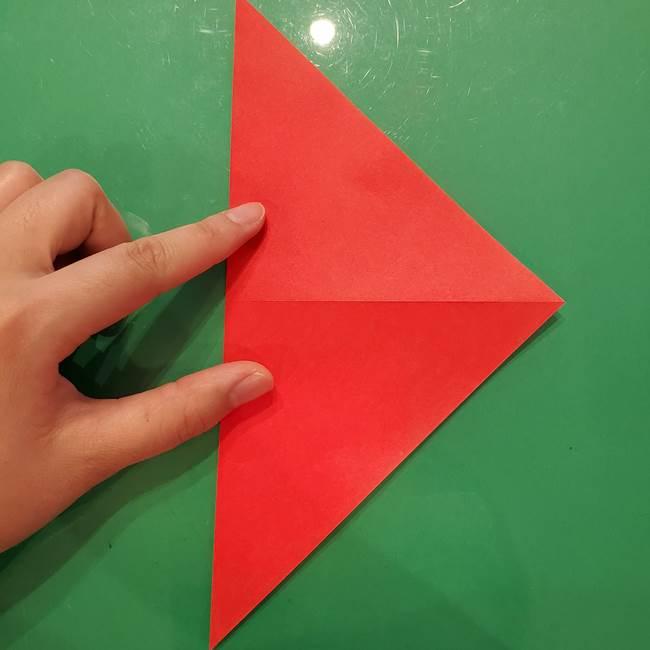 折り紙リスの折り図★立体で難しい折り方作り方①前半(4)