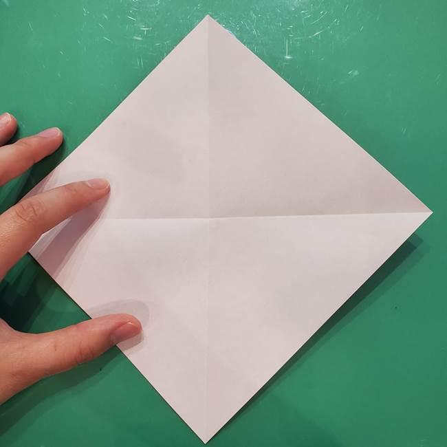 折り紙リスの折り図★立体で難しい折り方作り方①前半(5)