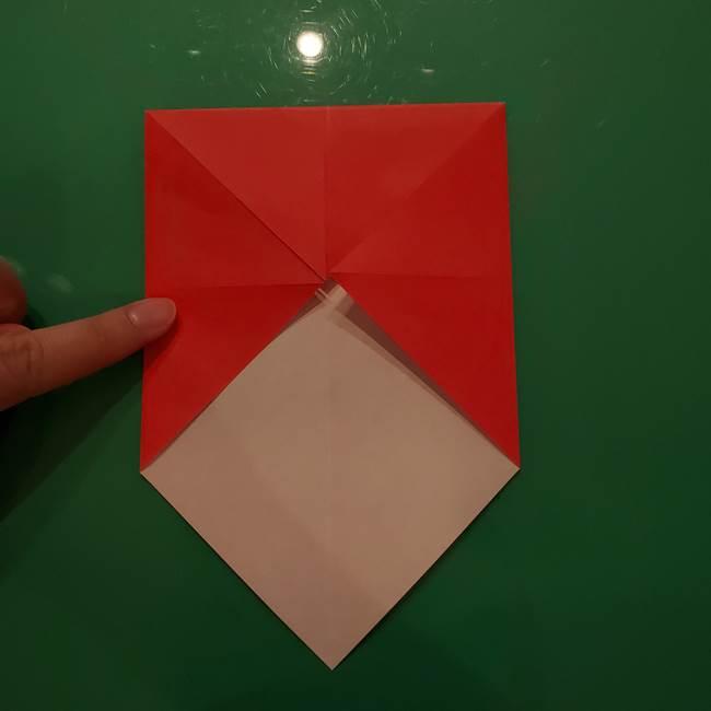 折り紙リスの折り図★立体で難しい折り方作り方①前半(6)