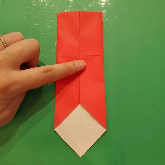 折り紙リスの折り図★立体で難しい折り方作り方①前半(7)