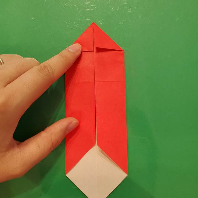 折り紙リスの折り図★立体で難しい折り方作り方①前半(8)