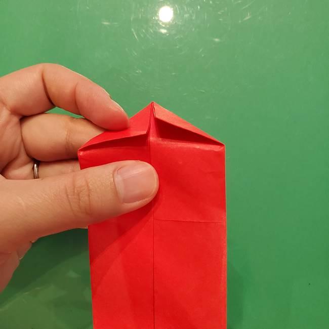 折り紙リスの折り図★立体で難しい折り方作り方①前半(9)