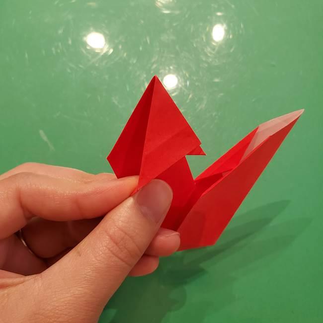 折り紙リスの折り図★立体で難しい折り方作り方②後半(1)
