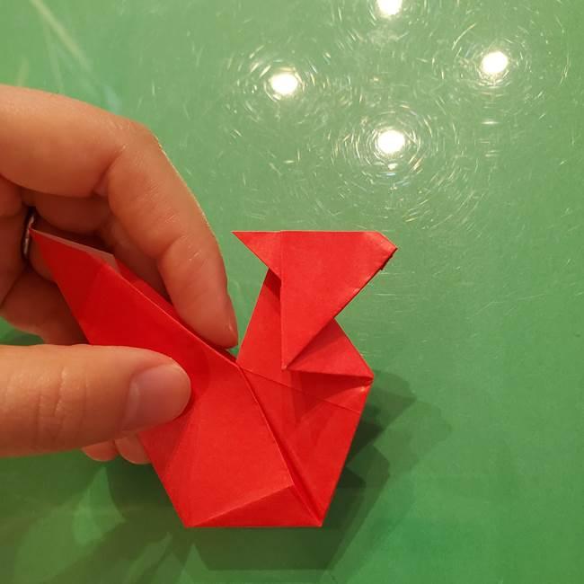 折り紙リスの折り図★立体で難しい折り方作り方②後半(11)