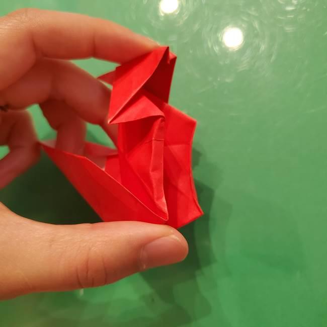 折り紙リスの折り図★立体で難しい折り方作り方②後半(13)