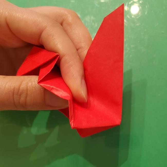 折り紙リスの折り図★立体で難しい折り方作り方②後半(15)