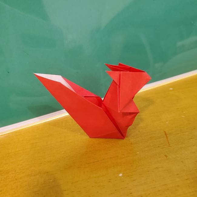 折り紙リスの折り図★立体で難しい折り方作り方②後半(17)