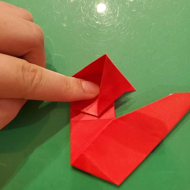 折り紙リスの折り図★立体で難しい折り方作り方②後半(2)