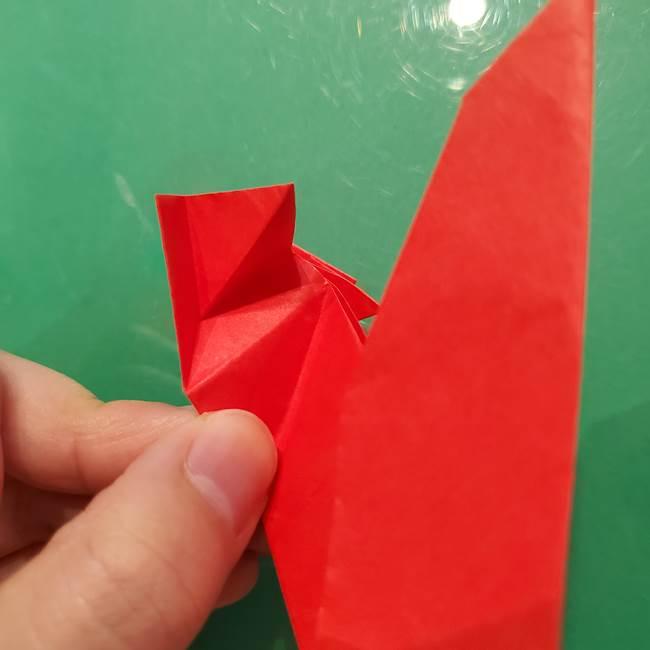 折り紙リスの折り図★立体で難しい折り方作り方②後半(3)