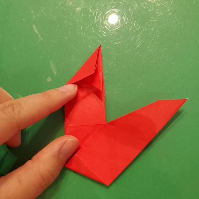 折り紙リスの折り図★立体で難しい折り方作り方②後半(4)