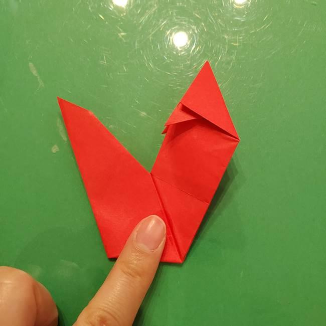 折り紙リスの折り図★立体で難しい折り方作り方②後半(5)