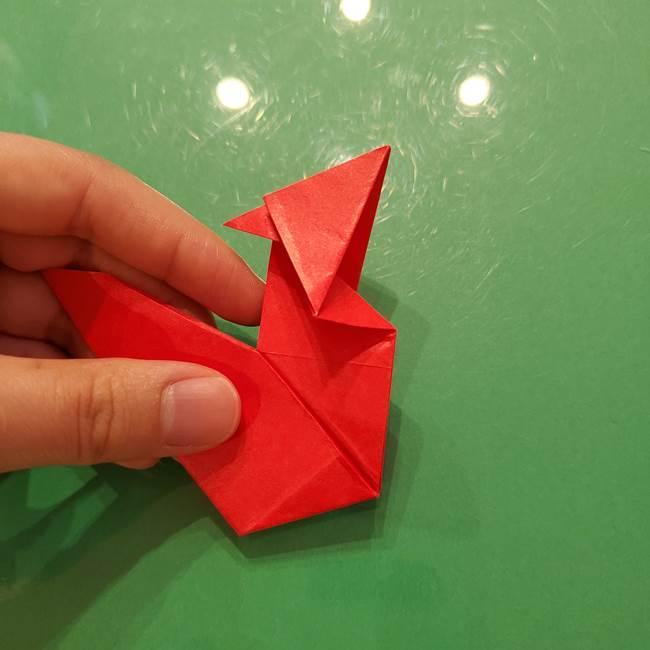 折り紙リスの折り図★立体で難しい折り方作り方②後半(6)