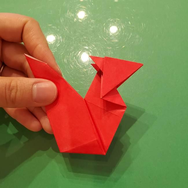 折り紙リスの折り図★立体で難しい折り方作り方②後半(8)