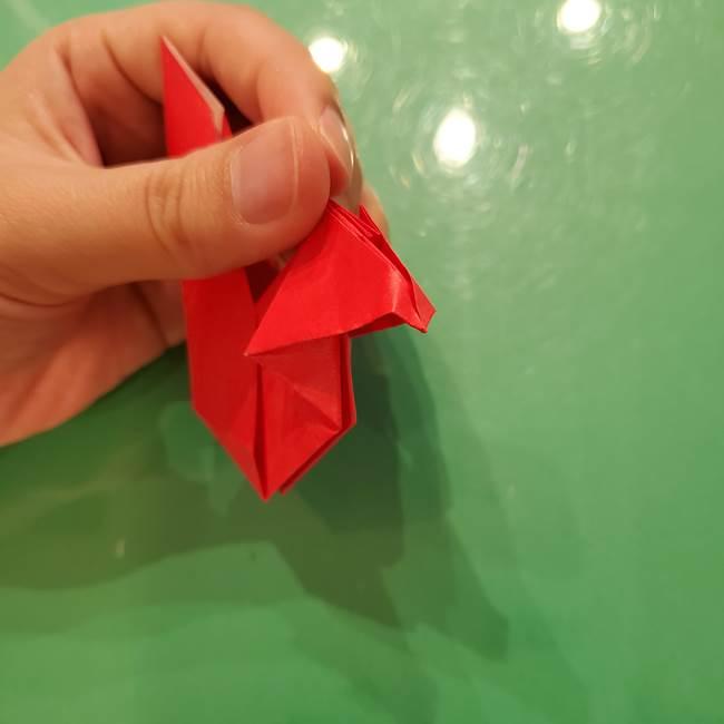 折り紙リスの折り図★立体で難しい折り方作り方②後半(9)