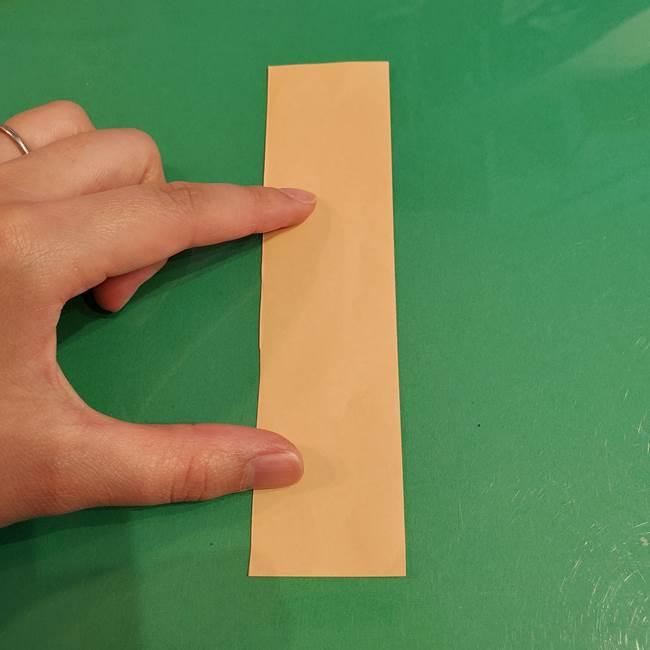 折り紙 餅つき用の杵と臼の折り方作り方①(1)