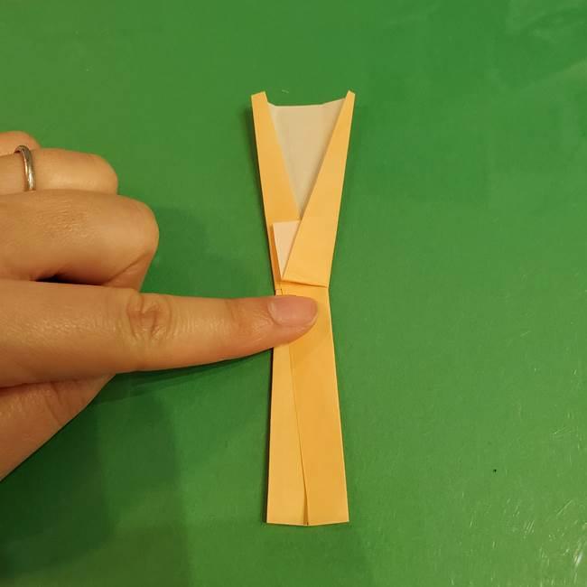 折り紙 餅つき用の杵と臼の折り方作り方①(10)