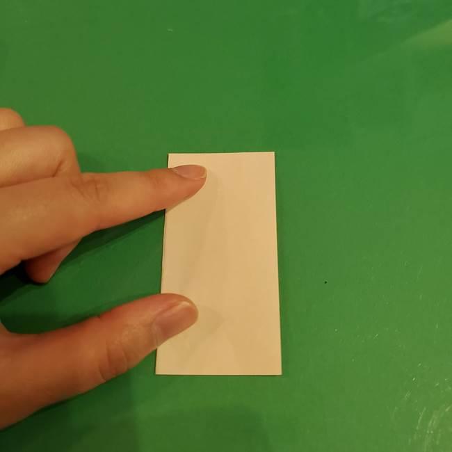 折り紙 餅つき用の杵と臼の折り方作り方①(2)