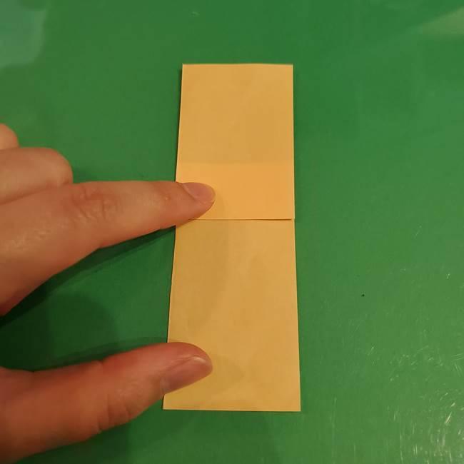 折り紙 餅つき用の杵と臼の折り方作り方①(3)