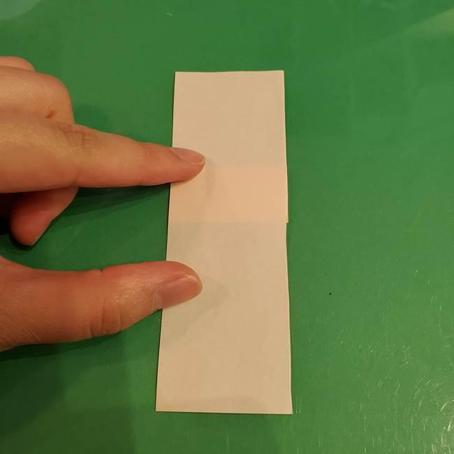 折り紙 餅つき用の杵と臼の折り方作り方①(4)