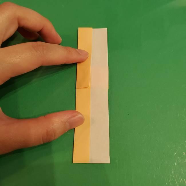 折り紙 餅つき用の杵と臼の折り方作り方①(5)