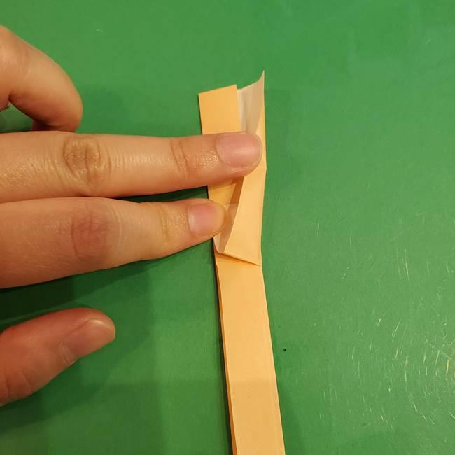 折り紙 餅つき用の杵と臼の折り方作り方①(7)