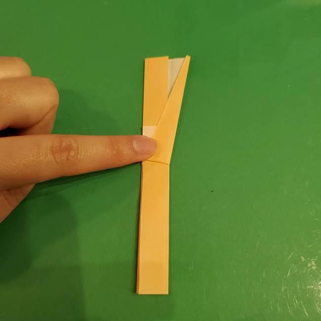 折り紙 餅つき用の杵と臼の折り方作り方①(8)