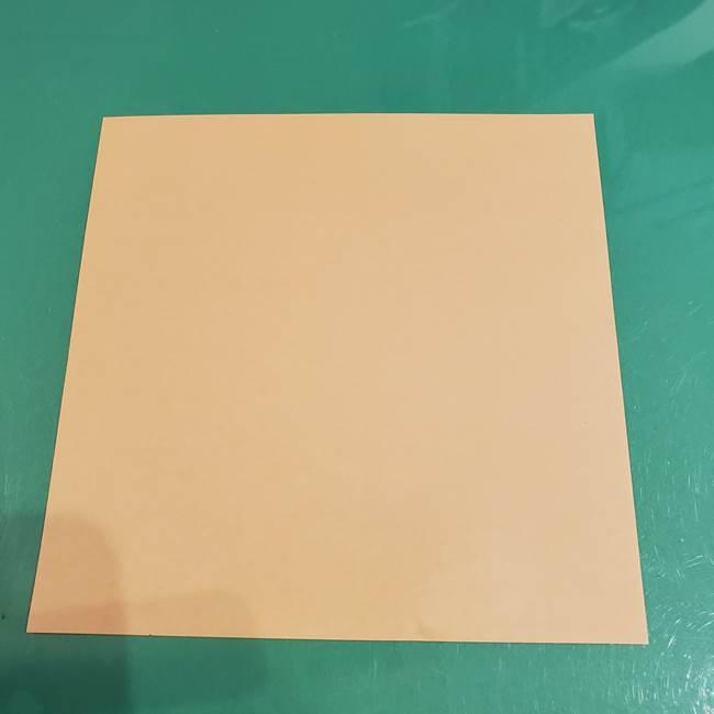 折り紙 餅つき用の杵と臼の折り方作り方②(1)