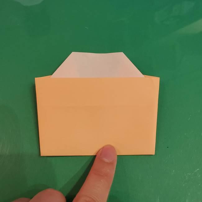 折り紙 餅つき用の杵と臼の折り方作り方②(10)