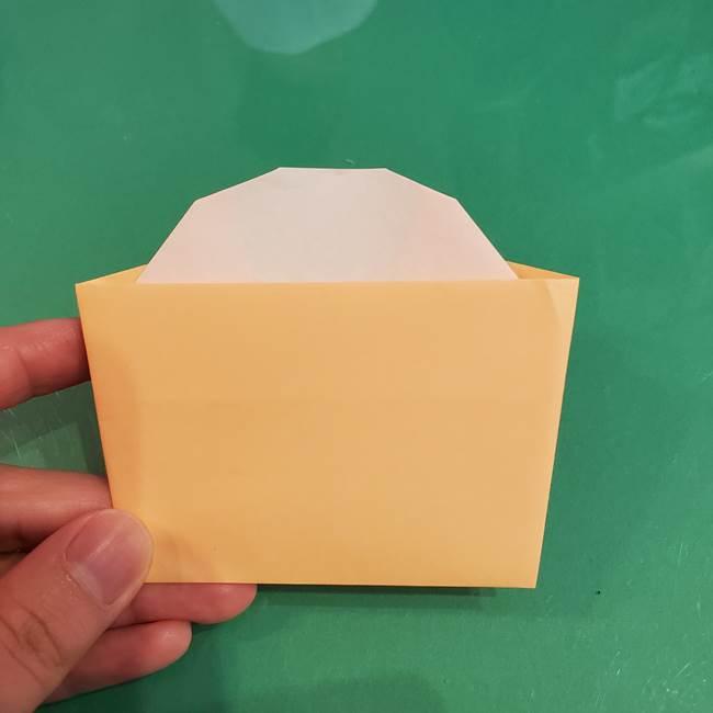 折り紙 餅つき用の杵と臼の折り方作り方②(11)