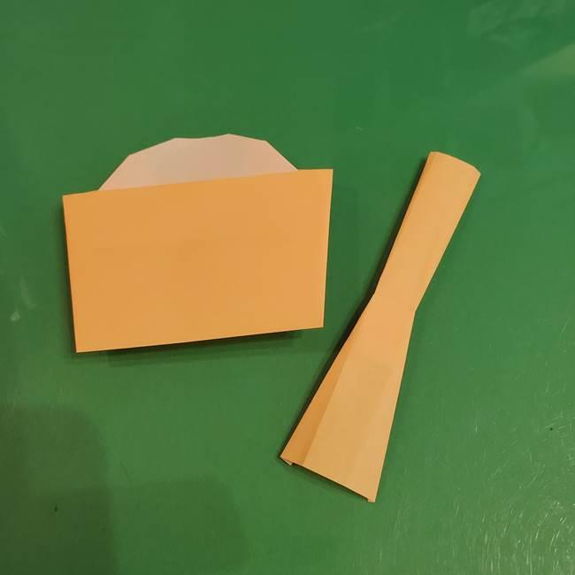 折り紙 餅つき用の杵と臼の折り方作り方②(13)