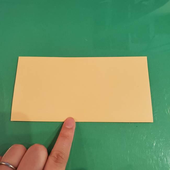 折り紙 餅つき用の杵と臼の折り方作り方②(2)
