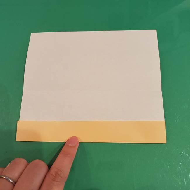 折り紙 餅つき用の杵と臼の折り方作り方②(4)