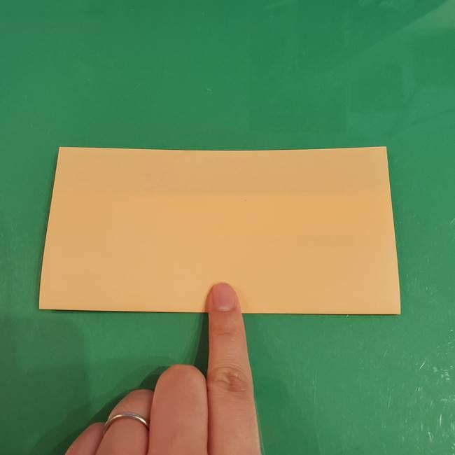 折り紙 餅つき用の杵と臼の折り方作り方②(6)