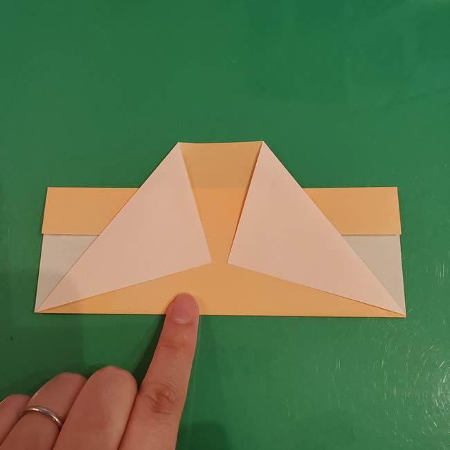 折り紙 餅つき用の杵と臼の折り方作り方②(7)