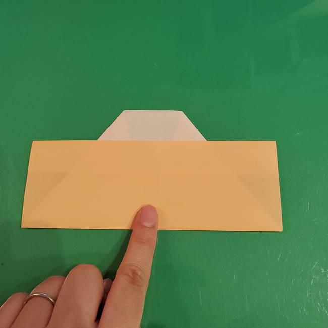 折り紙 餅つき用の杵と臼の折り方作り方②(8)