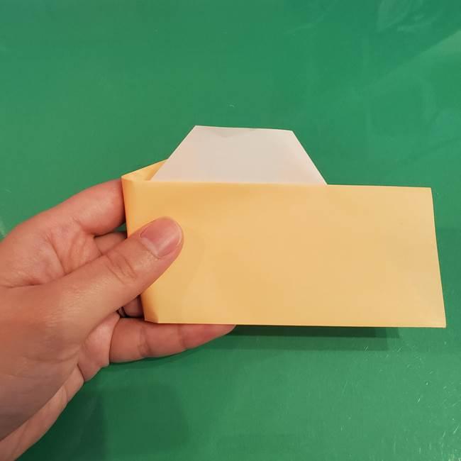 折り紙 餅つき用の杵と臼の折り方作り方②(9)