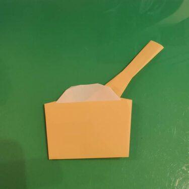 折り紙 餅つき用の杵と臼の折り方作り方★十五夜やお正月にピッタリの制作♪
