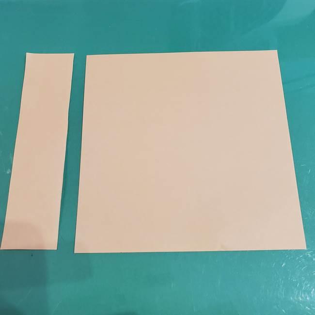 折り紙 餅つき用の杵と臼*用意するもの