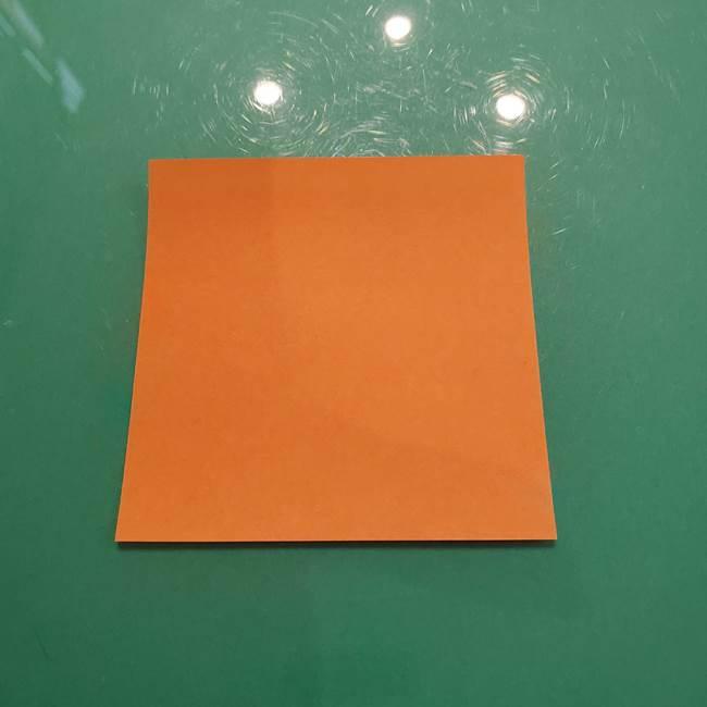 松ぼっくりの折り紙 平面で簡単な作り方折り方①-1