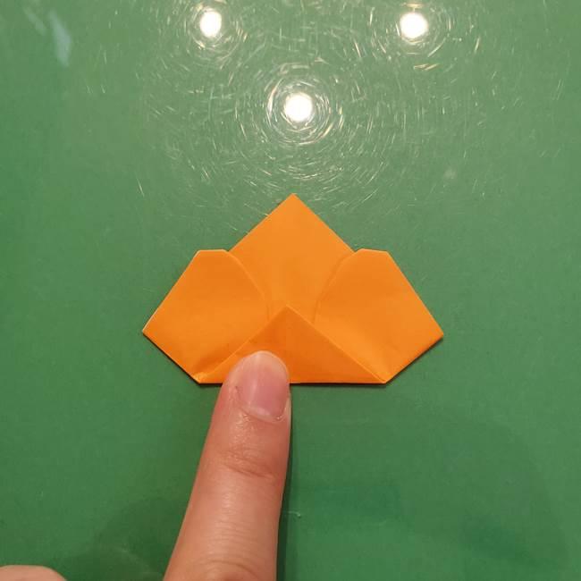 松ぼっくりの折り紙 平面で簡単な作り方折り方①-10