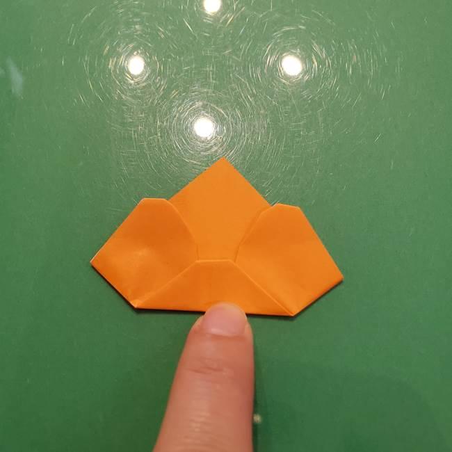 松ぼっくりの折り紙 平面で簡単な作り方折り方①-11
