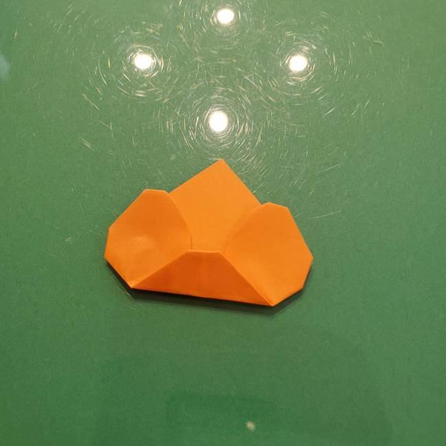 松ぼっくりの折り紙 平面で簡単な作り方折り方①-12