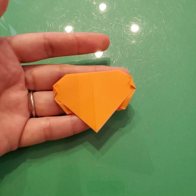 松ぼっくりの折り紙 平面で簡単な作り方折り方①-13
