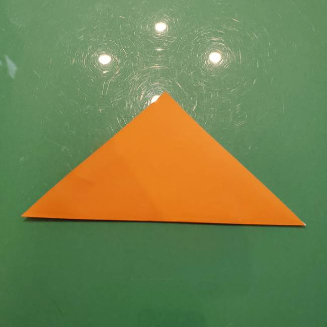 松ぼっくりの折り紙 平面で簡単な作り方折り方①-2