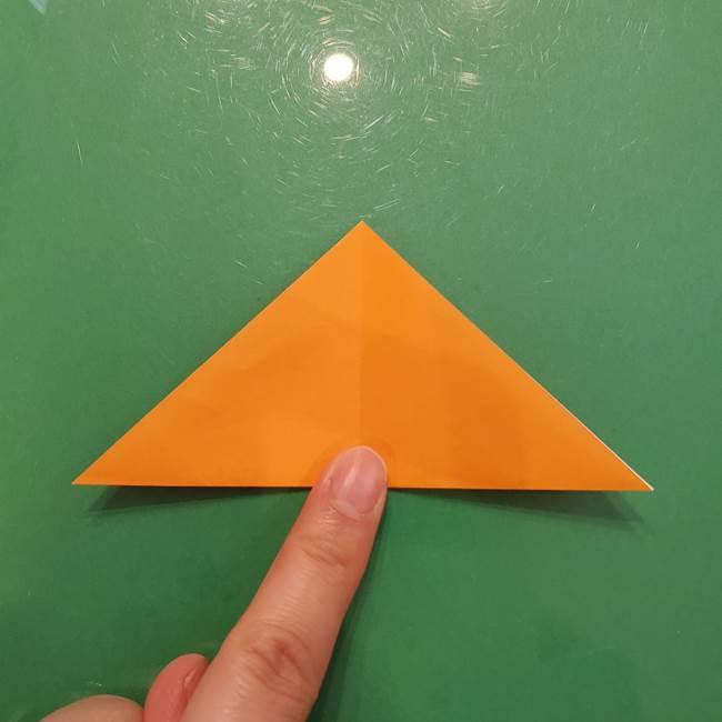 松ぼっくりの折り紙 平面で簡単な作り方折り方①-4