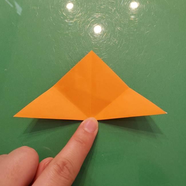 松ぼっくりの折り紙 平面で簡単な作り方折り方①-6