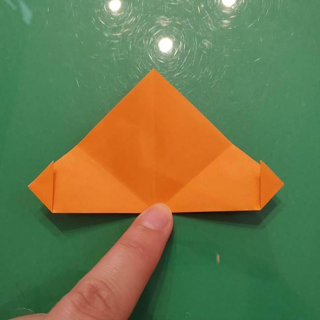 松ぼっくりの折り紙 平面で簡単な作り方折り方①-7