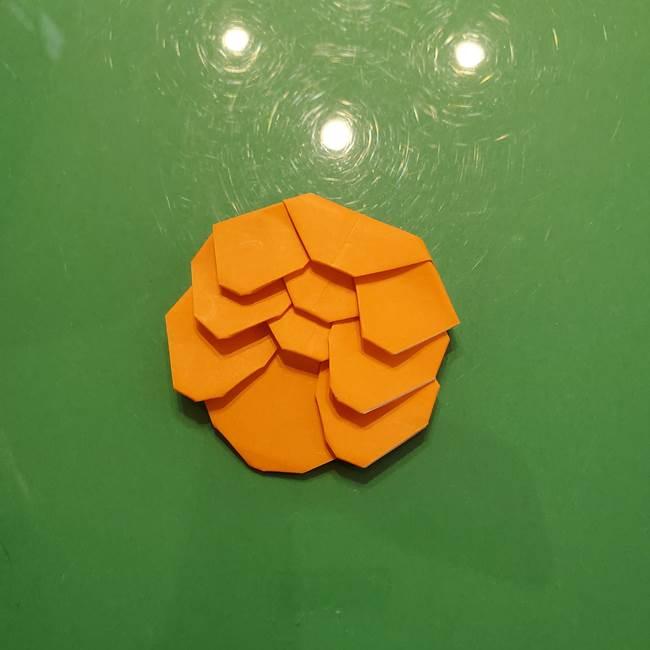 松ぼっくりの折り紙 平面で簡単な作り方折り方③-5