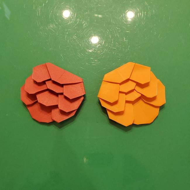 松ぼっくりの折り紙 平面で簡単な作り方折り方☆子供と秋に松かさ製作♪